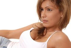 Belle femme 2 de Brunette Images stock