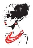 Belle femme Image libre de droits