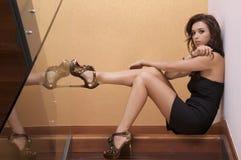 Belle femme adulte de sensualité Image stock