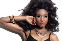 Belle femme africaine Photographie stock