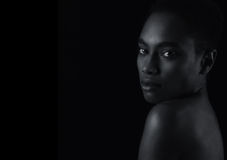 Belle femme afro-américaine Photo stock