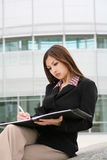 Belle femme asiatique d'affaires Image libre de droits