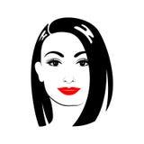 Belle femme avec la coupe de cheveux et le maquillage Photographie stock
