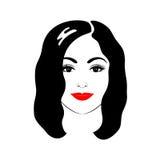 Belle femme avec la coupe de cheveux et le maquillage Photo libre de droits