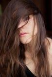 Belle femme avec le long cheveu Photo stock