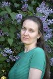 Belle femme avec un regard romantique Photo libre de droits