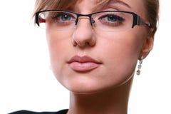 Belle femme blanche d'affaires Photo stock