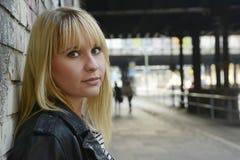 Belle femme blonde Photographie stock