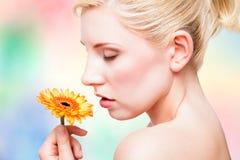 Belle femme blonde Image libre de droits