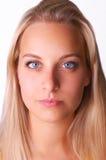 Belle femme blonde d'isolement images libres de droits