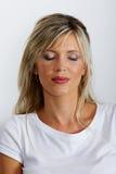 Belle femme caucasienne blonde Photos libres de droits