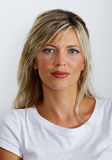 Belle femme caucasienne blonde Image stock