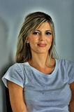 Belle femme caucasienne blonde Photographie stock libre de droits