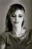 Belle femme caucasienne blonde Photos stock
