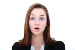 Belle femme choquée Photographie stock libre de droits