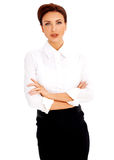 Belle femme d'affaires Photo stock
