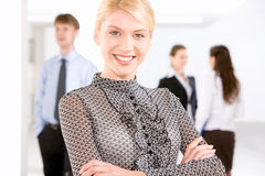 Belle femme d'affaires Image stock