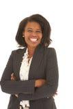 Belle femme d'affaires africaine Image libre de droits