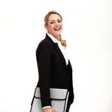 Belle femme d'affaires confiante image stock