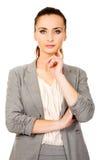 Belle femme d'affaires confiante Image libre de droits