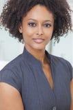 Belle femme d'affaires de femme d'Afro-américain de métis Photo libre de droits