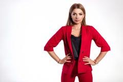 Belle femme d'affaires, fille ou femme réussie dans les affaires au sujet de Images libres de droits