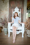 Belle femme d'affaires On par jour lumineux Photographie stock libre de droits