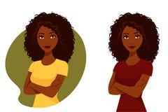 Belle femme d'Afro-américain Photo libre de droits
