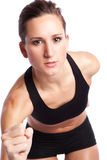 Belle femme d'exercice Image stock