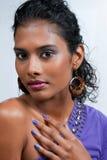Belle femme d'Indien est Images stock
