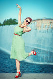 Belle femme dans l'habillement de vintage Photos libres de droits