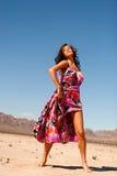 Belle femme dans la robe photos libres de droits