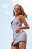 Belle femme dans la robe Image stock