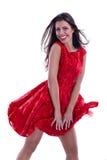 Belle femme dans la robe de flottement Image stock