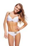 Belle femme dans le bikini Images stock