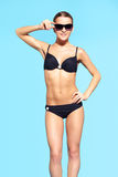 Belle femme dans le bikini Image libre de droits