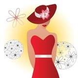 Belle femme dans le chapeau Image libre de droits