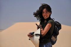 Femme dans le désert, Vietnam Photos libres de droits