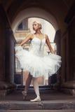 Belle femme de ballet dehors photographie stock