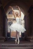 Belle femme de ballet dehors images stock