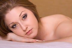 Belle femme de brunette images libres de droits