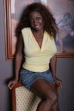 Belle femme de couleur photographie stock libre de droits