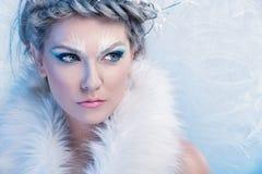 Belle femme de l'hiver image libre de droits