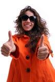 belle femme de lunettes de soleil Photos libres de droits