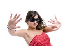 belle femme de lunettes de soleil Image libre de droits