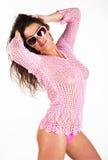 belle femme de lunettes de soleil Images stock