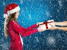 Belle femme de Noël photos stock