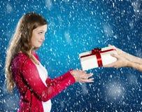 Belle femme de Noël images libres de droits