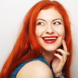 Belle femme de redhair images libres de droits