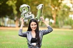 Belle femme de belle santé verte naturelle des filles 21 Photos stock